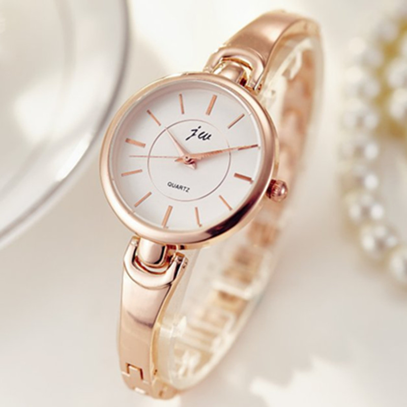 JW Brand Women Luxury Bracelet Watches Rose Gold Quartz Watch Ladies Fashion Dress Wristwatches Hours Clock Montres Femme Gifts