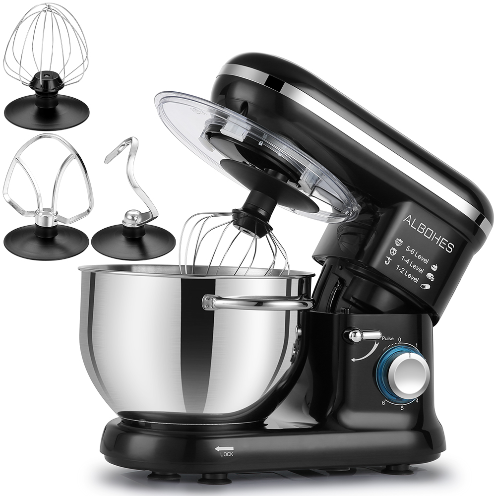 Image 2 - ALBOHES SM 1301Z Pro 5.5L 600W Bowl Lift Stand Mixer Portable Blenders Food Processor 6 Speed Settings Kitchen Appliances-in Blenders from Home Appliances