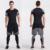Hombres Camisa De Compresión Basculador Gimnasio Ejercicio Ropa de Moda Casual de Manga Corta T-Shirt