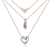 Baffin Crystals From SWAROVSKI Necklaces Pendants For Women Multi Layer Chains Rose Gold Plated Collier Christmas