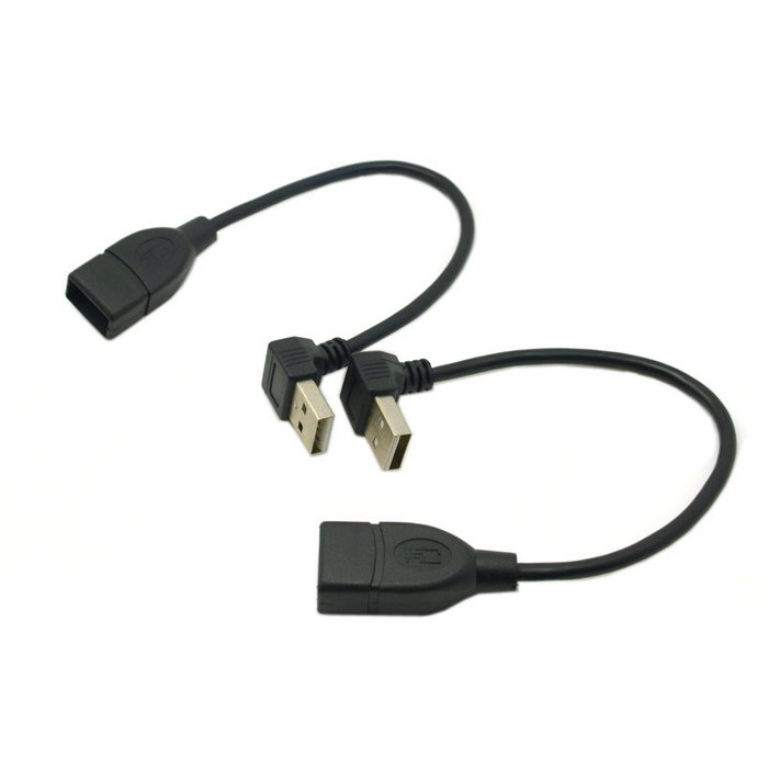 2pcs 90 Degree Up & Down Right Angled USB 2.0 A Male to Female Extension Cable 20cm,Free shipping+Tracking number