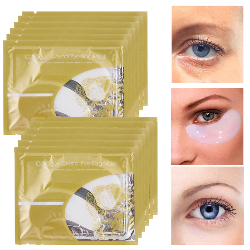 10Pcs=5Pair Collagen Crystal Eye Mask Gel Pad Patches For Eyes Care Anti Wrinkle Cream Anti Puffiness Patch Under The Eyes Serum
