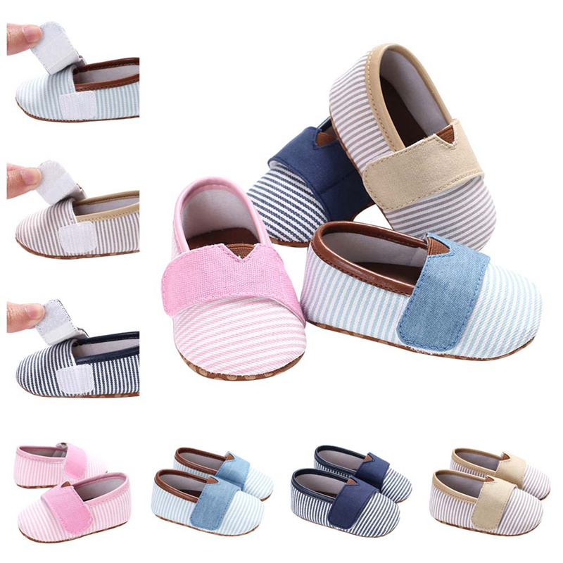 New Striped Newborn Baby Soft Bottom Toddler Shoes