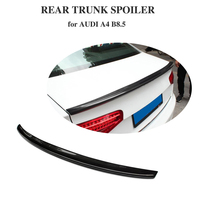 Carbon Fiber For Audi A4 B8 8.5 2013 2016 Rear Trunk Spoiler Boot Wing Lip S4 Style
