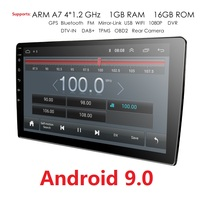 Ossuret 2 Din 9'' quad core Universal Android 9.0 1GB RAM Car Radio Stereo GPS Navigation WiFi 1024*600 Touch Screen 2din Car PC