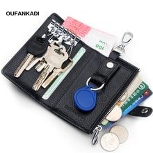 Фотография Oufankadi Genuine Cow Leather Wallet Multi Function Key Case Fashion Housekeeper Holders 6 Key Rings YSB006