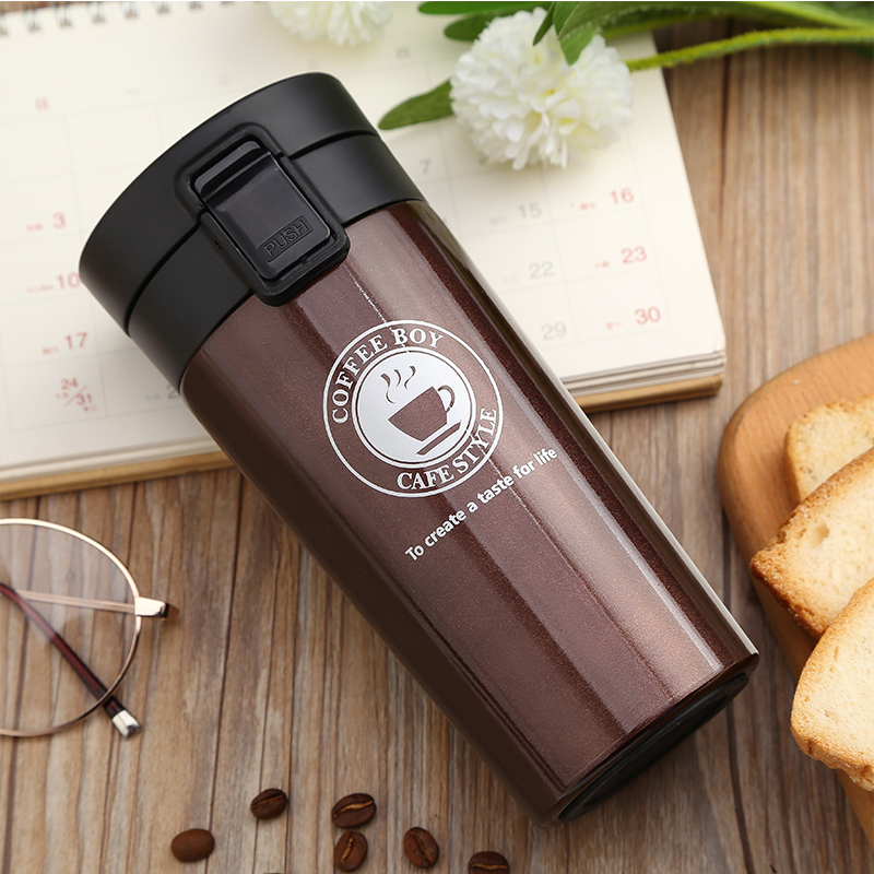 Coffee Thermos Mug Seal Stainless Steel tumbler 380ml mini vacuum flasks thermoses Thermo mug for Car tea cup termos thermocup