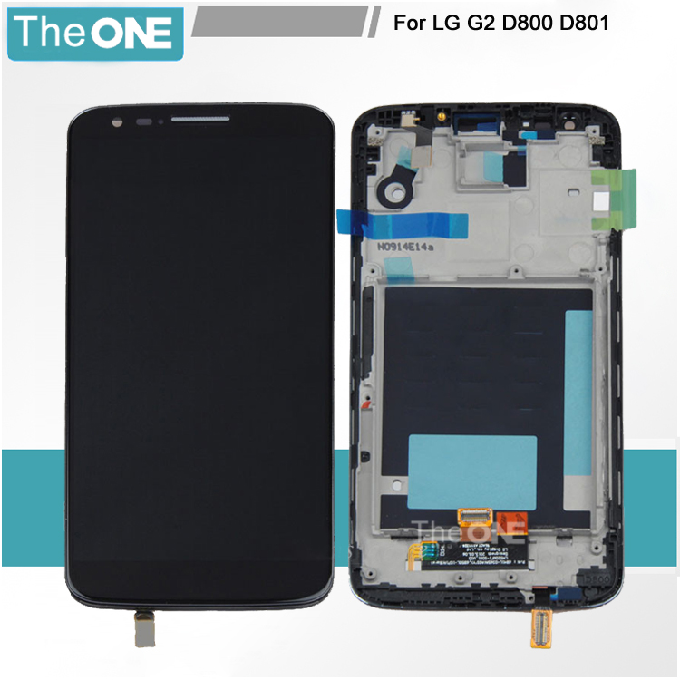 Black For LG Optimus G2 D800 D801 D803 LCD Touch Screen with Digitizer Glass Assembly Frame Free Shipping батарейку на lg kg 800