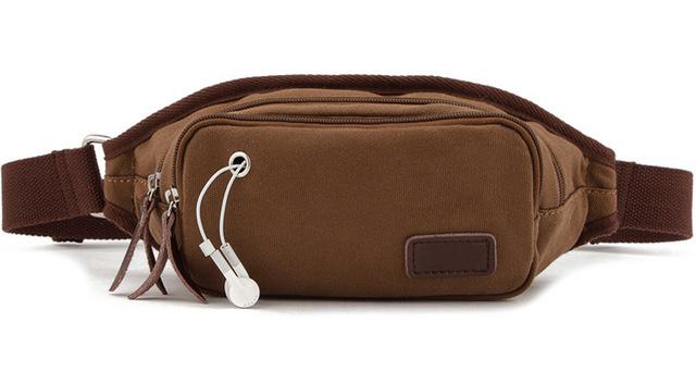 Alta Qualidade Saco de Homens Da Cintura Zíper Sólida Saco de Lona dos homens saco de viagem molle cinto bolsa pacote pacote