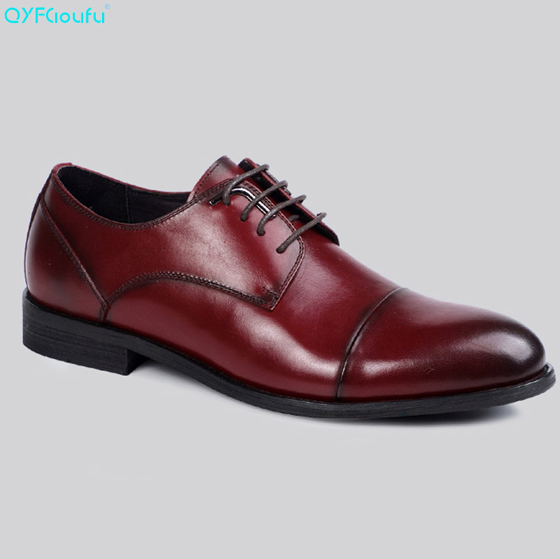 QYFCIOUFU Italian Mens Fashion Shoes Luxury Fingertip Cap Dress Shoes Genuine Leather High Quality Cow Leather Evening ShoesQYFCIOUFU Italian Mens Fashion Shoes Luxury Fingertip Cap Dress Shoes Genuine Leather High Quality Cow Leather Evening Shoes