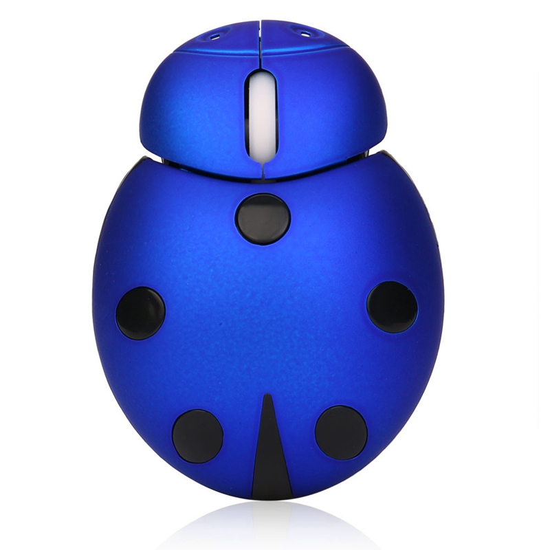 2.4Ghz Beetle Wireless Usb Gaming Mouse Cute Animal Computer Mouse Without Battery Plastic
