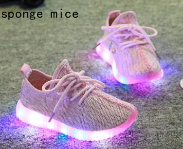 2017-sponge-mice-brand-children-boys-and-girls-breathable-LED-light-shoes-casual-shoes-1