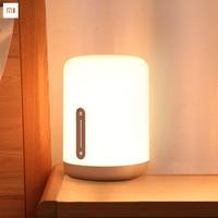 Original Xiaomi Mijia Bedside Lamp 2 Bluetooth WiFi Touch Panel APP Control RGB Table Lamp Works with Apple HomeKit Siri