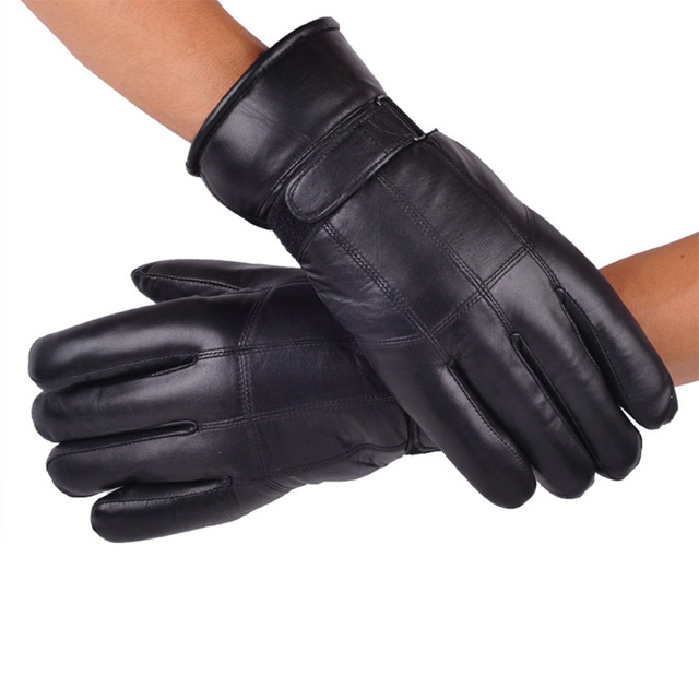 Men's Real Leather Gloves Winter Gloves Leather Trendy Sheepskin Gentmen Luvas Guantes Mujer Winter New 2019 Thicken Glove 1