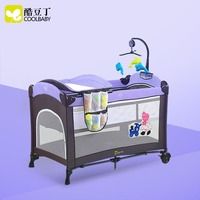 coolbaby Baby crib collapsible portable game bed baby crib shaker newborn Children's bed