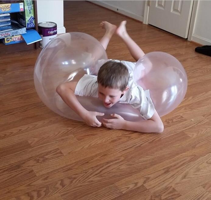 Bubble Ball Inflatable Ball Firm Ball Comfortable Random Color Latex Transparent Wubble Bubble in Toy Balls from Toys Hobbies