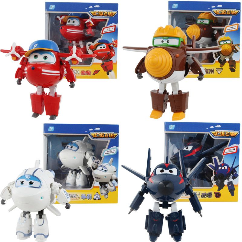 Free Shipping 4 style font b 2017 b font Newest styles Super Wings toys Transformation Airplane