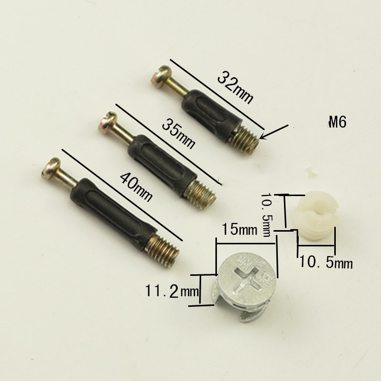 20pcs Three in one screw, furniture connector, clothes cabinet, desk, link, fixer, eccentric wheel nut connection.20pcs Three in one screw, furniture connector, clothes cabinet, desk, link, fixer, eccentric wheel nut connection.