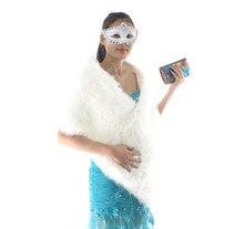Großhandel Günstige Ivory Weiß Hochzeit Bolero Coat Damen Winterjacken und Mäntel One Size Wrap für Abendkleid