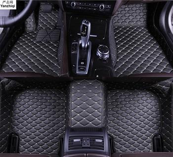 Upgrade leather car floor mats for Suzuki Escudo Grand Vitara Nomade 2006-2015 Custom foot Pads automobile carpet car covers