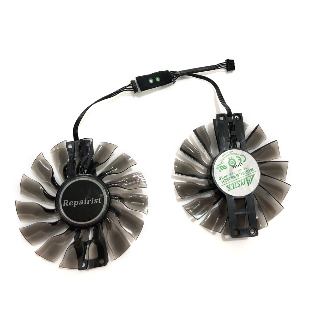 2pcs//set for MSI GTX980 970 960 PLD10010S12HH 95mm Graphics cooling fan