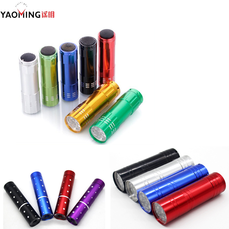 YAOMING Dropshipping Kids Small Lantern Portable LED Flashlights Pocket Penlight 9 Cree Use AAA Battery Women Cheap Gifts Light