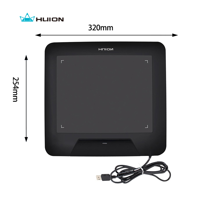 Hot Sale New HUION 680S 8 Animation Graphic Tablets Signature Pen Tablet Boards Professional Digital Tablet Pad Black