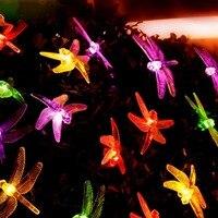 5m 20led cuerda de luz led al aire libre impermeable 220v libélula insectos luz para el patio fiesta de cumpleaños decoración de Navidad|Cadenas de iluminación| |  -