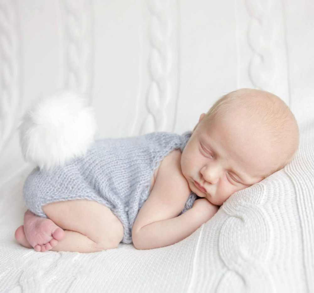 Detail feedback questions about newborn photography props cute rabbit easter bunny photo photography props baby clothing accessories knit romper on