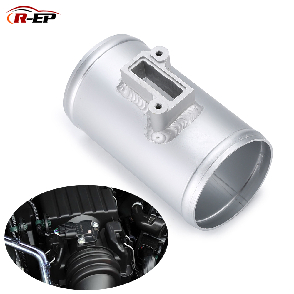 R-EP Air Flow Sensor Mount Fit For Nissan Honda Fit Civic For Volkswage FORD MAF Performance Air Intake Meter Adapter 2.5 3inch cnspeed air intake pipe kit for ford mustang 1989 1993 5 0l v8 cold air intake induction kits with 3 5 air filter yc100689