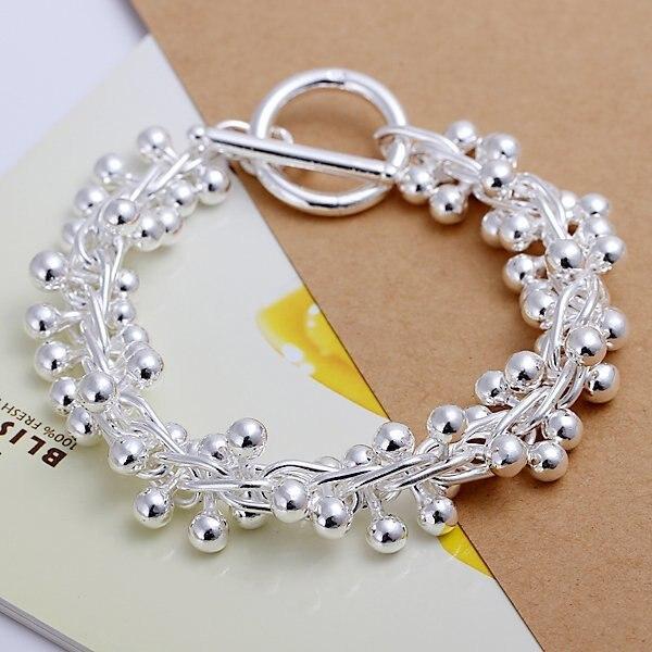 7cbdae8e57a94 US $4.68  Wholesale H019 925 Sterling Silver bracelet 2015 Fashion Jewelry  bracelets for women Grape-in Chain & Link Bracelets from Jewelry & ...