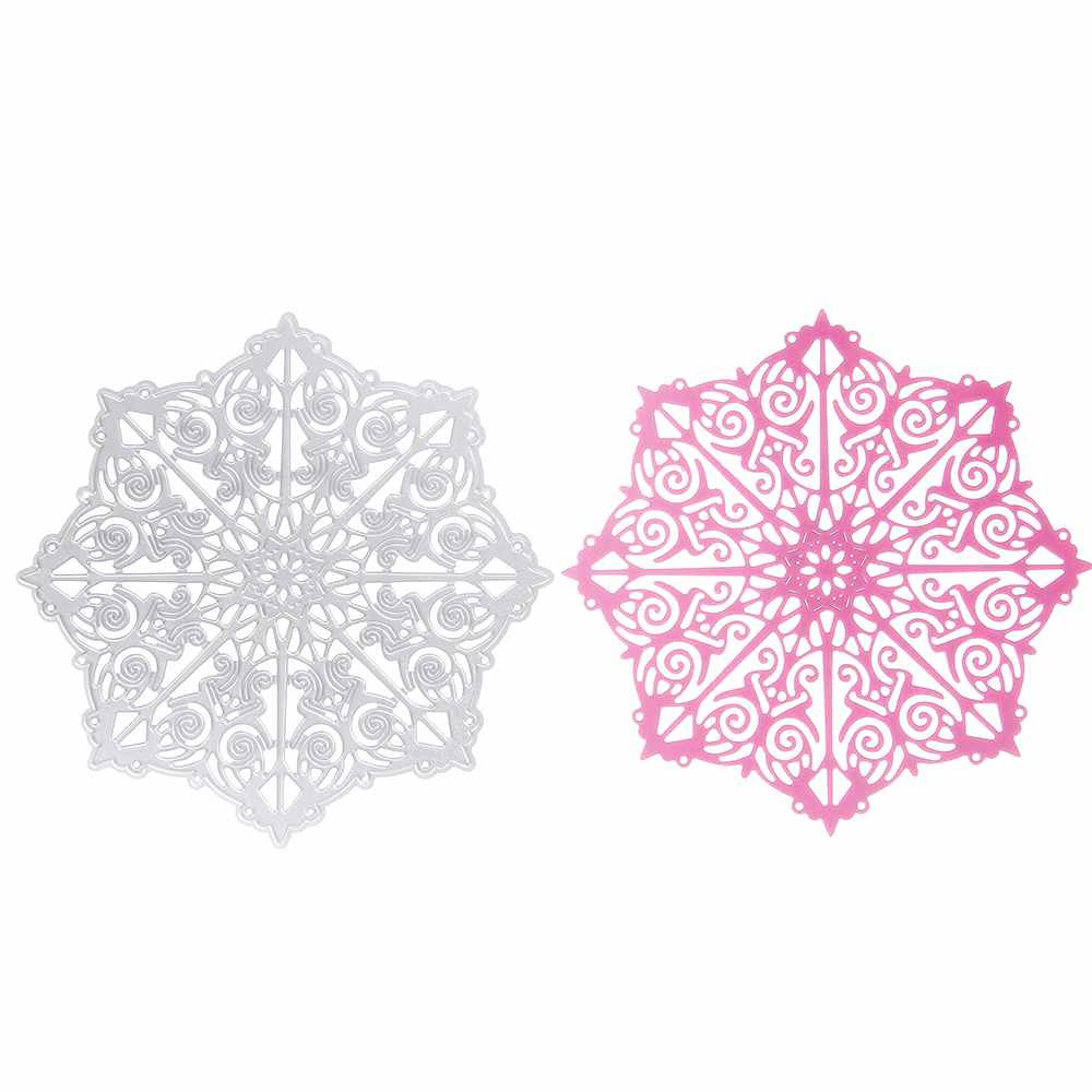 Hot 1pcs Retro Octagon Flower Pattern Metal Cutting Die Stencil