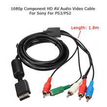 New1.8M компонент AV/YPbPr аудио-видео кабель HDTV для SONY Playstation 3 для PS3/Playstation 2 PS2 Поддержка 480i/480 p/720 p/1080i