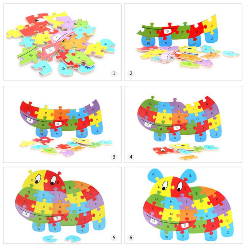 Cysincos 1 комплект, Детские Обучающие деревянные игрушки, детские игрушки-головоломки, креативное изучение алфавита игрушки Монтессори, новогодние подарки