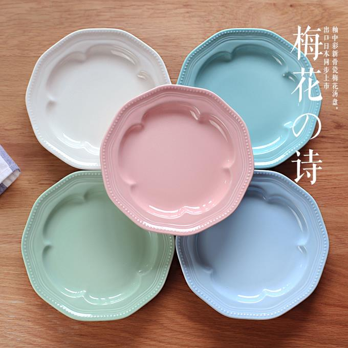 creative bone china dinner plates fresh color dishes for restaurant decorative basket fruit plates 2j144 in dishes plates from home garden on - China Dinner Plates