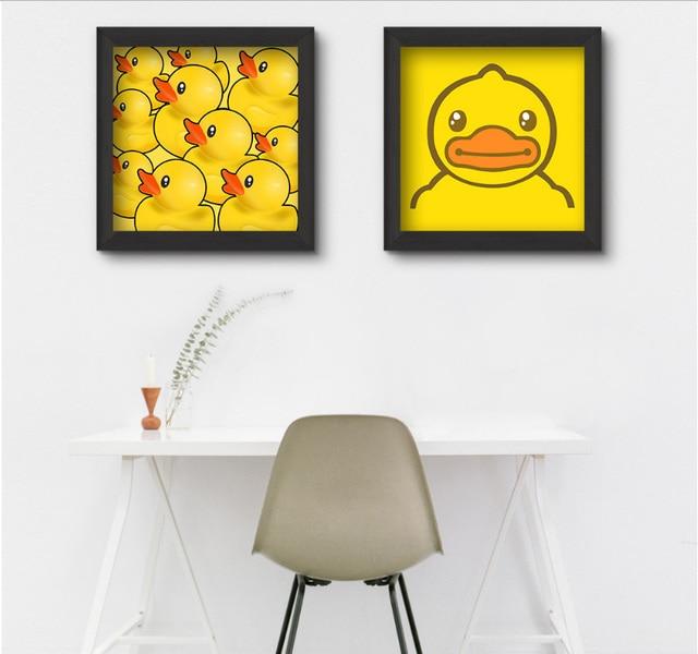 2 unidades simples encantadores dibujos animados amarillo pato ...