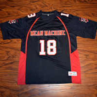 MM MASMIG Paul Crewe #18 Mean Maschine Fußball Jersey Genäht Schwarz S M L XL XXL XXXL