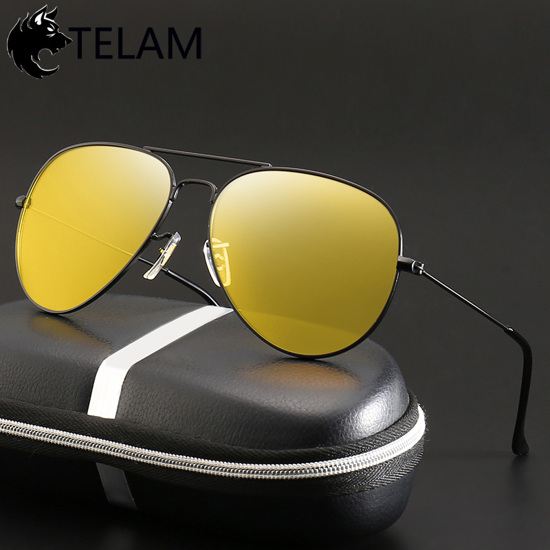Night Vision Glasses Driver Goggles Unisex Vision Sunglasses Car Driving Glasses Polarized Sunglasses Anti-Glare Glasses UV400
