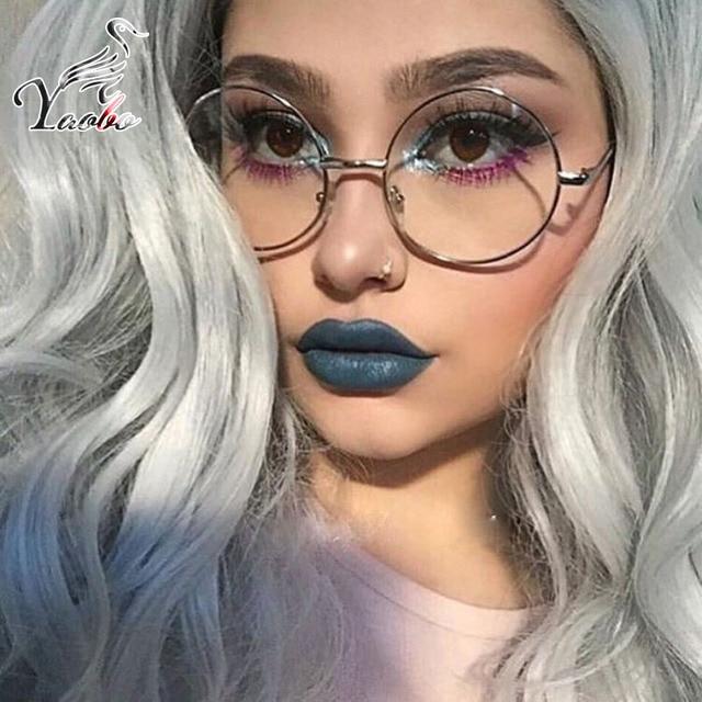 952ecfa128 Nerd lunettes rondes hommes femmes cadre en métal avec lentille  transparente Harry Potter lunettes rétro femme