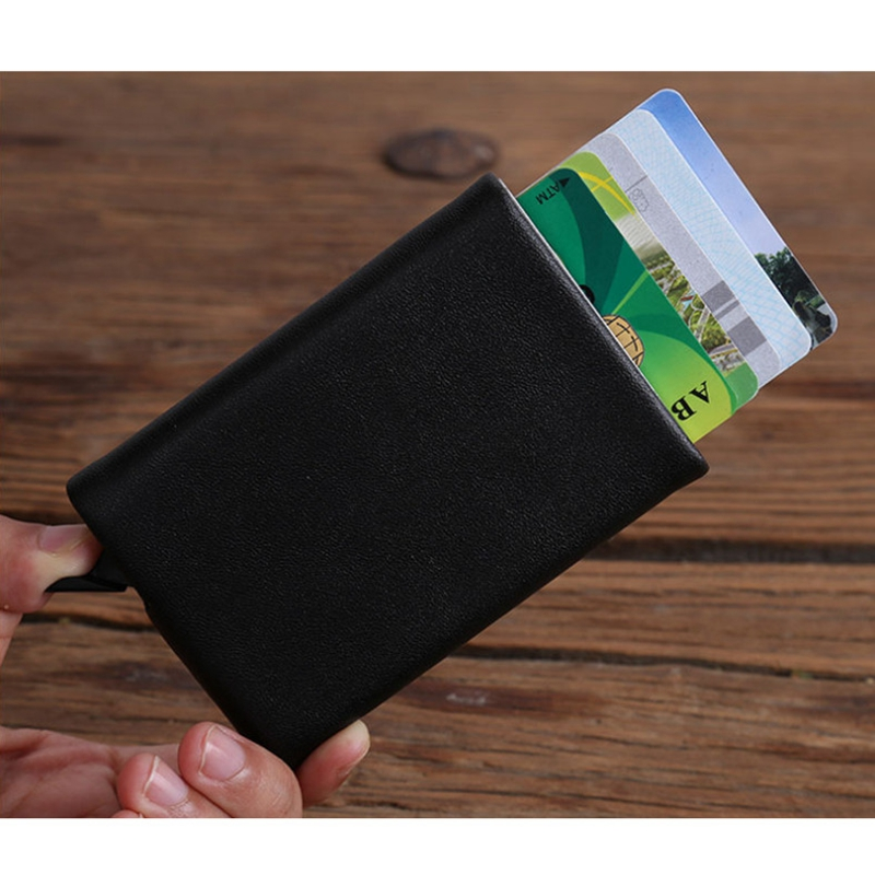 New Mini PU Leather Business Aluminium RFID Credit Card Holders for ...