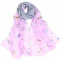 Moda de playa de viaje Mujer Flor estampado bufanda de gasa bufandas cuello chal K37