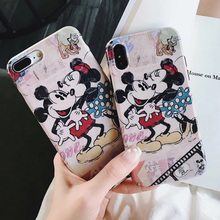 Cartoon Minnie Mickey Donald Daisy Duck Soft TPU Case for iPhone XS 7 8 Plus 6s 6plus iphone MAX Cover Accessories