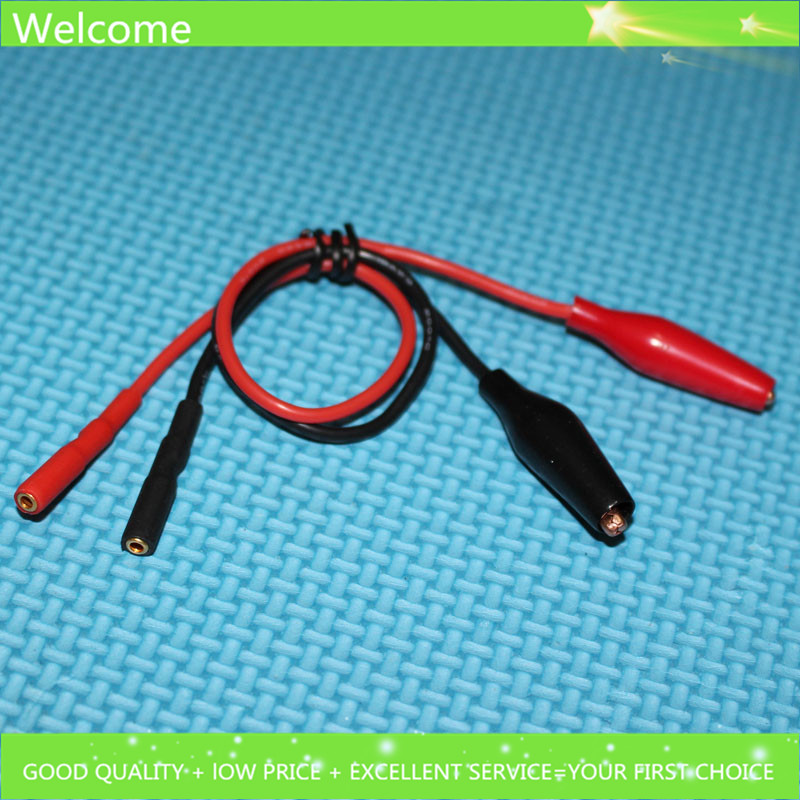 1 pair 200mm 18AWG Test Cable with Small Copper Alligator Clip and 2 ...