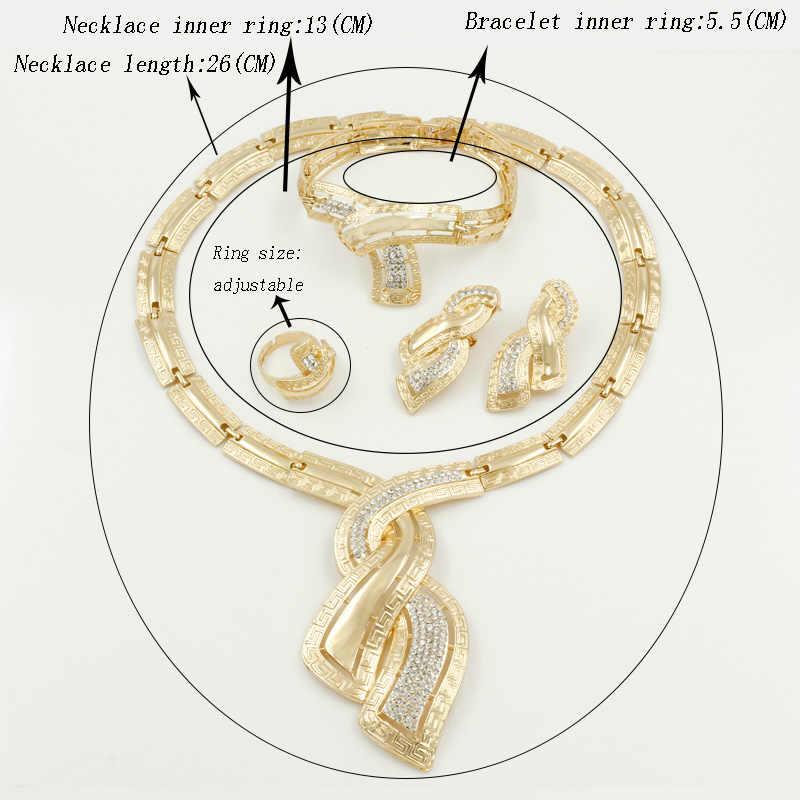 2019 nowych moda turecki kobiety biżuteria kostiumowa kryształowy naszyjnik z koralików pierścień ślub afryki ślub panny młodej Party Jewelry Sets
