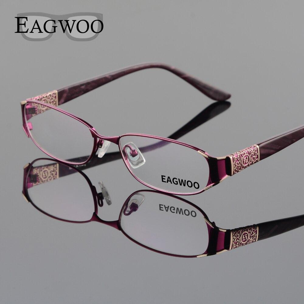 EAGWOO נשים אלגנטי עוצב משקפיים מלא שפת מסגרת אופטית חדש מרשם משקפיים רגיל משקפיים רגיל ראיית D9068