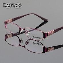Eagwoo Для женщин элегантный разработан очки полный обод оптический Рамка новый рецепт зрелище Обычная глаз Очки плотная видения D9068