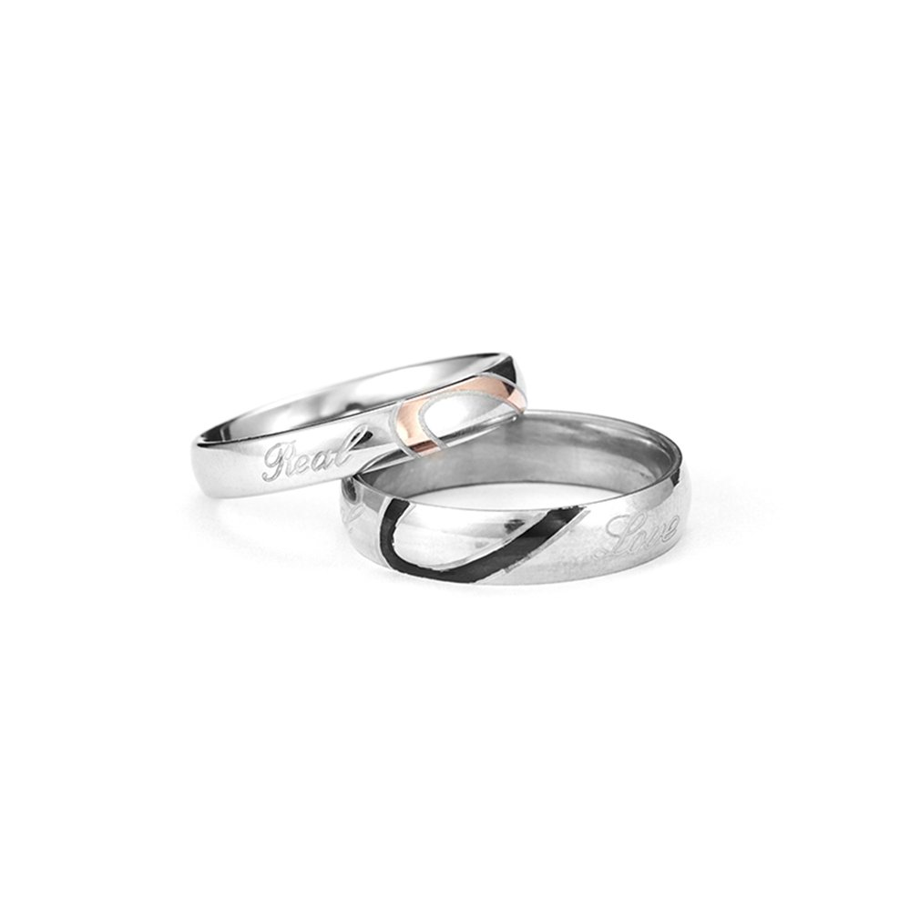 ee42bbcbce Detail Feedback Questions about Fashion Couple Heart Shape Rings Matching  Titanium Promise Ring for Couple 316L Stainless Steel Wedding Bands Lovers  Ring on ...