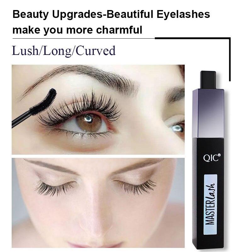 F-blue QIC 3D Eyes Makeup Mascaras Schwarz Pigment Curling Thick Lengthening Waterproof Mascara Kosmetik f/ür Frauen M/ädchen