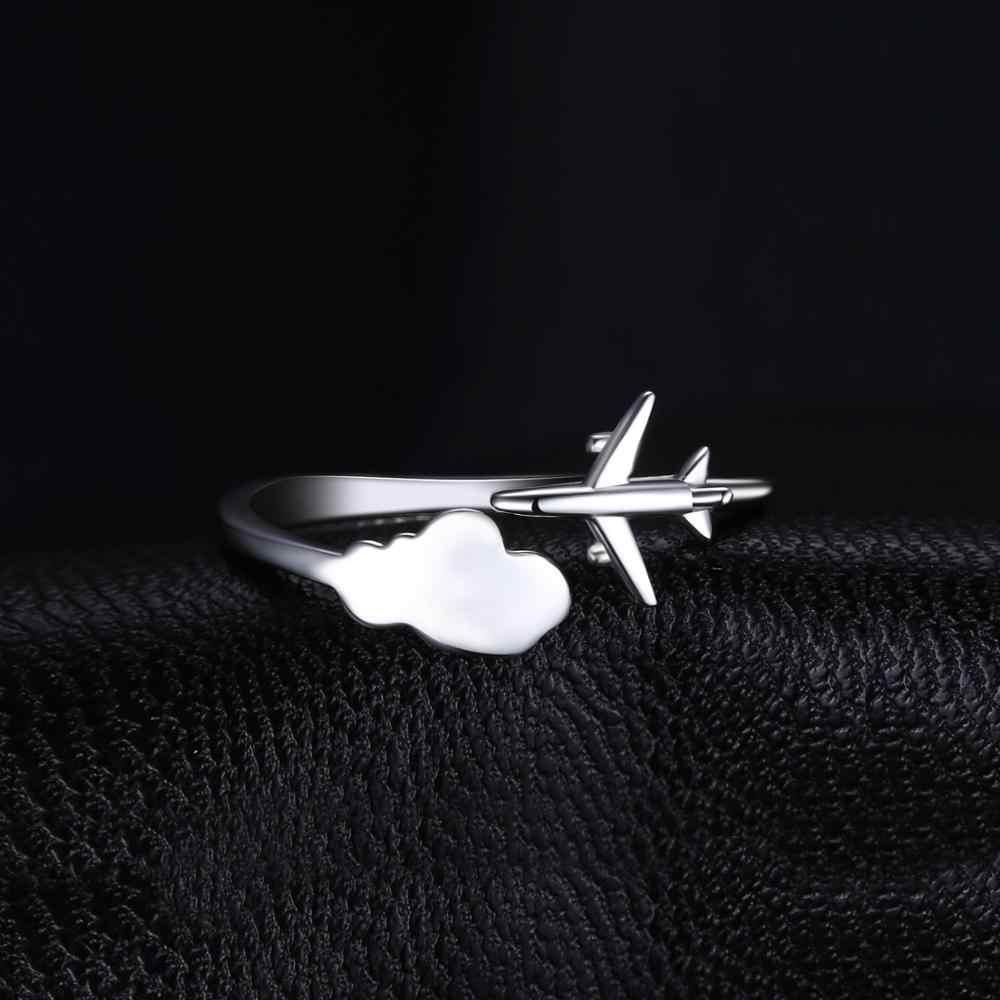 Jewelrypalace global avião anel 925 anéis de prata esterlina para as mulheres aberto empilhável anéis de prata 925 jóias finas