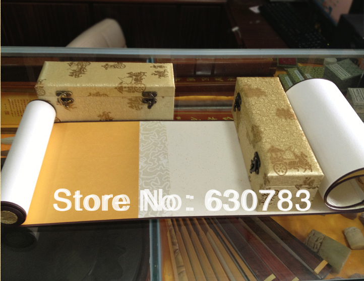 Free Shipping hand made Chinese Rice Paper XUAN PAPER of Hand Scroll for Artist Painting with